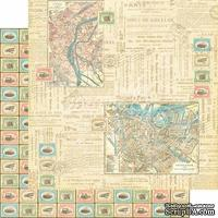 Лист скрапбумаги Graphic 45 - Come Away With Me - Travel Odyssey, двусторонняя, 30х30 см