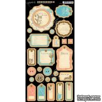 Высечки из чипборда Graphic 45 - Come Away With Me - Journaling Chipboard, 18х30 см - ScrapUA.com