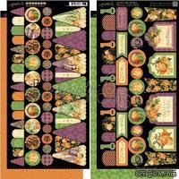 Высечки Graphic 45 - An Eerie Tale - Banners, размер 15х30 см