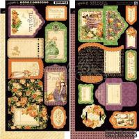 Высечки Graphic 45 - An Eerie Tale - Tags & Pockets, размер 15х30 см