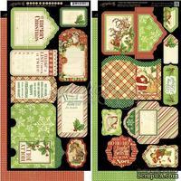 Высечки Graphic 45 - Twas the Night Before Christmas - Tags & Pockets, размер 15х30 см