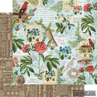 Лист бумаги Graphic 45 - Time to Flourish - January Flourish, размер 30х30 см, двусторонняя