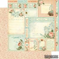 Лист бумаги Graphic 45 - Time to Flourish - June Cut Apart, размер 30х30 см, двусторонняя