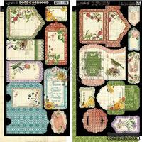 Высечки Graphic 45 - Time to Flourish - Tags & Pockets, размер 15х30 см