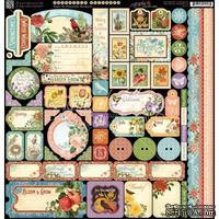 ЦЕНА СНИЖЕНА! Лист наклеек Graphic 45 - Time to Flourish - Decorative Sticker