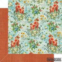 Лист скрапбумаги Graphic 45 - Home Sweet Home - Garden Fresh, двусторонняя, 30х30 см.