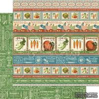 Лист скрапбумаги Graphic 45 - Home Sweet Home - Country Life, двусторонняя, 30х30 см.