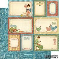 Лист скрапбумаги Graphic 45 - Home Sweet Home - My Sunshine, двусторонняя, 30х30 см.