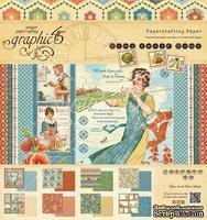 Набор двусторонней бумаги Graphic 45 - Home Sweet Home Pad, размер 20х20 см, 24 листа