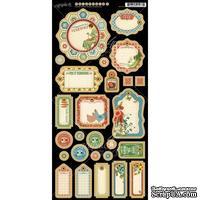 Высечки из чипборда Graphic 45 - Home Sweet Home - Journaling Chipboard, 15х30 см