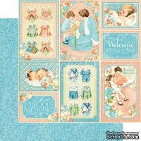 Лист скрапбумаги Graphic 45 - Precious Memories - Pat A Cake, двусторонняя, 30х30 см.