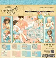 Набор двусторонней бумаги Graphic 45 - Precious Memories Pad, размер 30х30 см, 8 листов