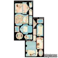 Высечки Graphic 45 - Precious Memories - Tags & Pockets,15х30 см.