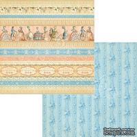 Лист скрапбумаги Graphic 45 - Gilded Lily - Royal Gardens, двусторонняя, 30х30 см.