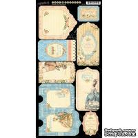 Высечки из чипборда Graphic 45 - Gilded Lily - Tags & Pockets,15х30 см.