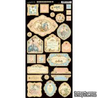 Высечки из чипборда Graphic 45 - Gilded Lily - Decorative Chipboard, 15х30 см