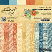 ЦЕНА СНИЖЕНА! Набор скрапбумаги Graphic 45 - World's Fair - Patterns & Solids Pad, 15х15 см, двусторонняя, 12 листов