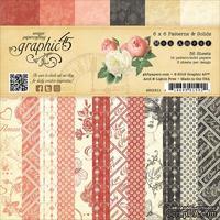 Набор скрапбумаги Graphic 45 - Mon Amour - Patterns & Solids Pad, 15х15 см, двусторонняя, 12 листов