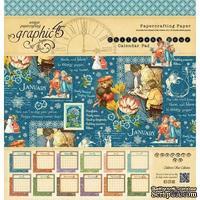 Набор двусторонней бумаги Graphic 45 - Children's Hour - Calendar Pad, размер 30х30 см, 12 листов