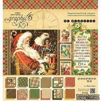 Набор скрапбумаги Graphic 45 - St Nicholas - Pad, 20х20 см, двусторонняя, 12 листов