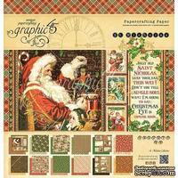 Набор скрапбумаги Graphic 45 - St Nicholas - Pad, 30х30 см, двусторонняя, 12 листов