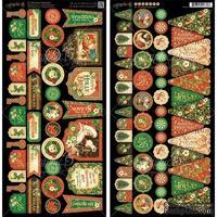 Высечки Graphic 45 - St Nicholas - Banners, размер 15х30 см