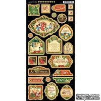 Высечки из чипборда Graphic 45 - St Nicholas - Decorative Chipboard, 15х30 см