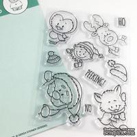Набор штампов Gerda Steiner - Peeking Friends 4x6 Clear Stamp Set