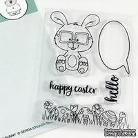 Набор штампов Gerda Steiner - Nerdy Easter Bunny 3x4 Clear Stamp Set