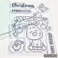 Набор штампов Gerda Steiner - Little Reindeer 3x4 Clear Stamp Set