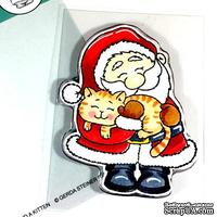 Набор штампов Gerda Steiner - Santa And A Kitten 3x4 Clear Stamp Set