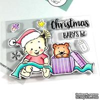 Набор штампов Gerda Steiner - Baby Girl Christmas 3x4 Clear Stamp Set
