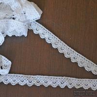Кружево х/б, вязаное, цвет белый, ширина 1.7 см, длина 90 см