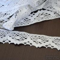 Кружево х/б, вязаное, цвет белый, ширина 2.5 см, длина 90 см