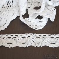 Кружево х/б, вязаное, цвет белый, ширина 3.5 см, длина 90 см