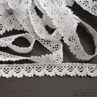 Кружево  х/б, вязаное, цвет  белый, ширина 1.8 см, длина 90 см - ScrapUA.com
