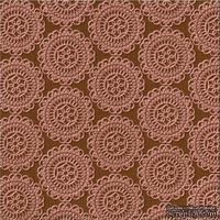Кардсток с тиснением и внутренним слоем Core'Dinations - Core Impressions - Basic Grey - Ornate Collection - Hazelnut Cornbread, 30х30 см