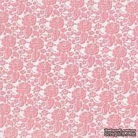 Кардсток с тиснением и внутренним слоем Core'Dinations - Core Impressions - My Minds Eye - Lost and Found Collection - Antique Vanity Tapestry, 30х30 см