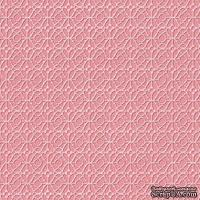 Кардсток с тиснением и внутренним слоем Core'Dinations - Core Impressions - Pink Paislee - Modern Prints - Satin Rose Lattice, 30х30 см