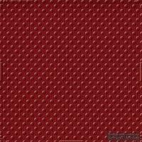 Кардсток с тиснением и внутренним слоем Core'Dinations - Spotted - Tillie Dot - Scarlet, 30х30 см