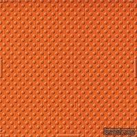 Кардсток с тиснением и внутренним слоем Core'Dinations - Spotted - Tillie Dot - Orange, 30х30 см