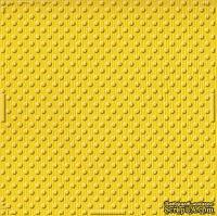 Кардсток с тиснением и внутренним слоем Core'Dinations - Spotted - Tillie Dot - Tulip, 30х30 см