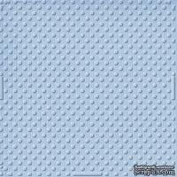 Кардсток с тиснением и внутренним слоем Core'Dinations - Spotted - Tillie Dot - Tranquil Blue, 30х30 см