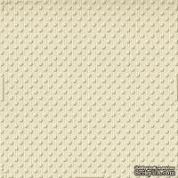 Кардсток с тиснением и внутренним слоем Core'Dinations - Spotted - Tillie Dot - Vanilla Cream, 30х30 см