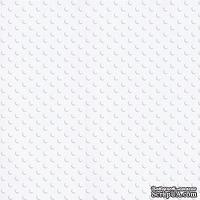 Кардсток с тиснением и внутренним слоем Core'Dinations - Spotted - Tillie Dot - Snowflake, 30х30 см