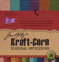 Набор кардстока с внутренним слоем Core'Dinations - Tim Holtz - Kraft-Core - Seasonal Impressions, 30х30 см
