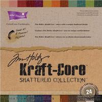 Набор кардстока с внутренним слоем Core'Dinations - Tim Holtz - Kraft-Core - Shattered, 30х30 см