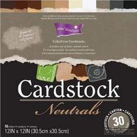 Набор кардстока с внутренним слоем Core'Dinations - Cardstock Neutrals, 30х30 см