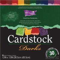 Набор кардстока с внутренним слоем Core'Dinations - Cardstock Darks, 30х30 см
