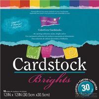 Набор кардстока с внутренним слоем Core'Dinations - Cardstock Brights, 30х30 см